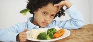 a los niños no les gusta la verdura
